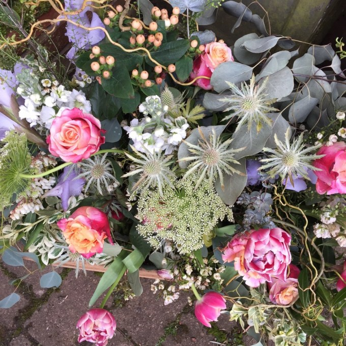 Roses, thistles, berries, tulips and dill