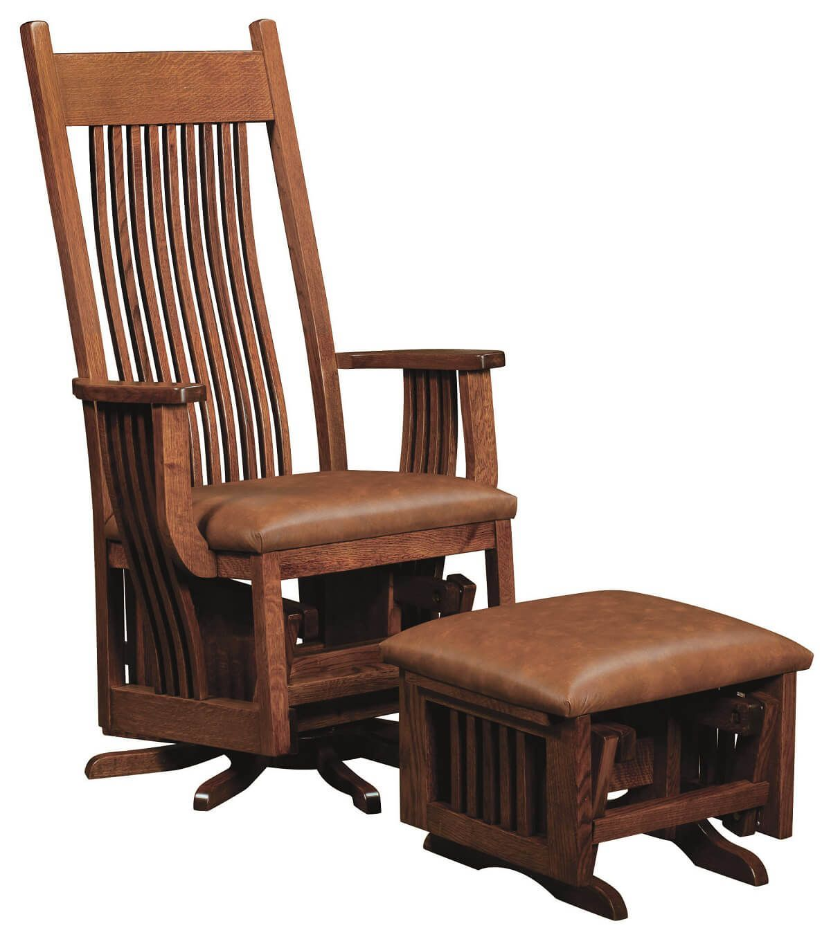 Wood Glider Chair Deltana Wood Swivel Glider Countryside Amish Furniture