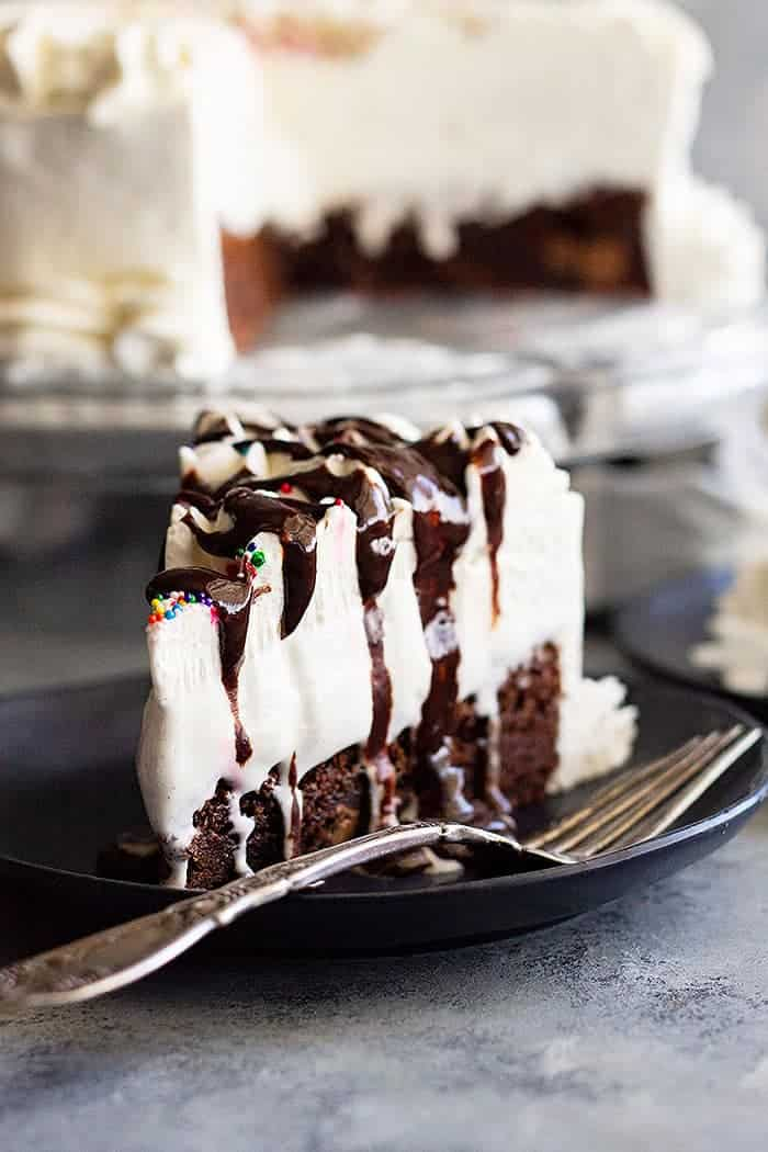 How Long Is Ice Cream Cake Good For : cream, Brownie, Cream, Countryside, Cravings