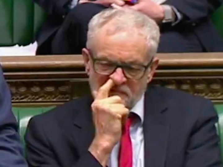 corbyn picking nose