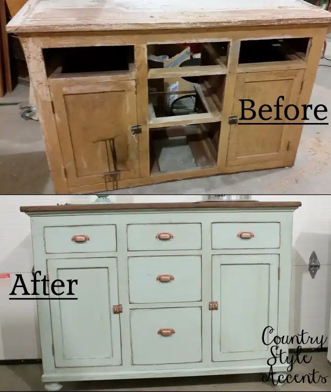 Old Kitchen Before And After: Old Kitchen Cabinet Refinished! Before And After