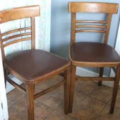 Vintage Kitchen Chairs Home Depot Storage Cabinets Pair Of 1960 S Wooden Retro