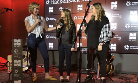 Nash FM 94.7's Katie Neal with New York Country Swag's Christina Bosch & Stephanie Wagner