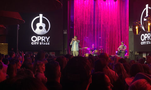 Brett Young & Carly Pearce at Opry City Stage for Front and Center