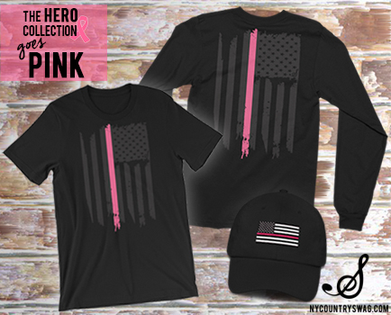 The Pink Line from NYCountry Swag's Hero Collection, Breast Cancer Awareness