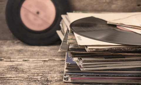 Vinyl Records of Favorite Country Music Artists