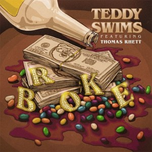 """Thomas Rhett collaborates with Teddy Swims on new song, """"Broke"""" available now, October 23rd."""