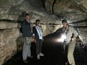 Exploring a lava tunnel