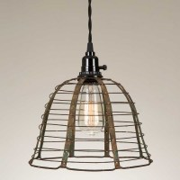 Rustic Wire Pendant Lamp | CountryVintageHome.com