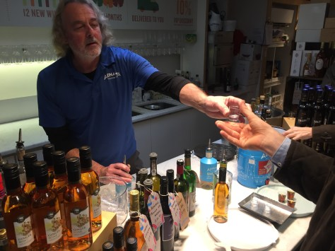 A tasting at the Adnams brewery shop in Southwold