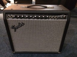 I pretty much learned to play guitar on this amp and yet I can't find a single photo of mine. This one belongs to a friend.