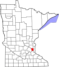 Radon levels for Ramsey County