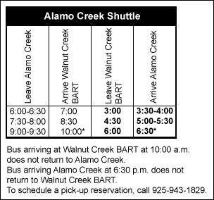 Alamo Creek Shuttle