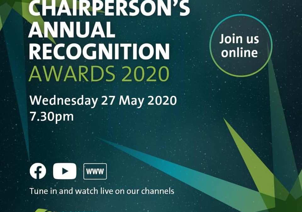 Congratulations!  Chairperson's Annual Recognition Awards 2020