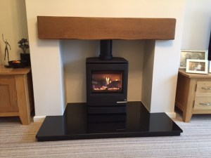 Gazco CL5 gas stove with beam