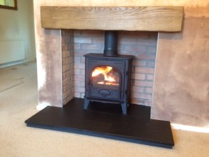 Gazco Stockton stove with beam