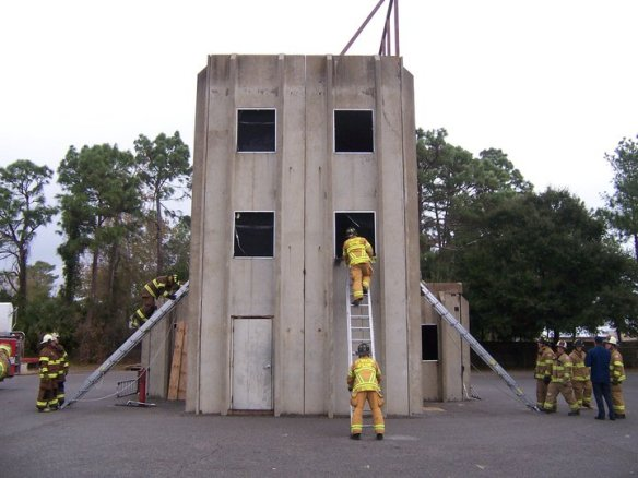 How do you train on ground ladders?
