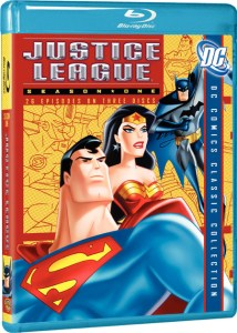 The cover art for Justice League: Season 1 on Blu-Ray