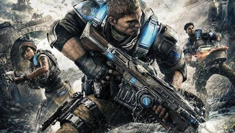 Gears of War 4's protagonists - From Left - Kait, J.D, Del.
