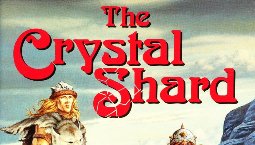 Title of the Crystal Shard, from the cover of the first edition.