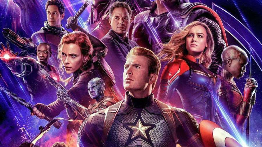 Chunk of the movie poster for Avengers: Endgame