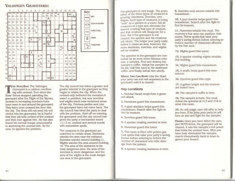 Scan of the Cluebook for the Valhaigen Graveyard