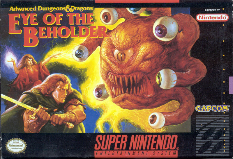 Box art of Eye of the Beholder for the SNES