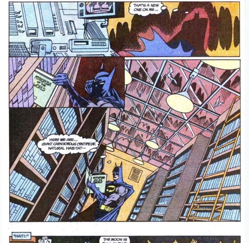 Batman hits the books.