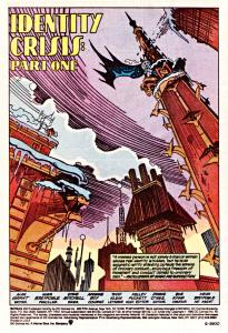 The first page of this issue of the comic.