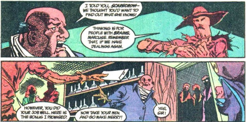 "Scarecrow gives Marcuse his ""bonus"""