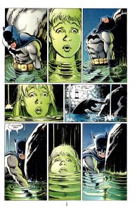 Batman struggles at the rock while Sissy struggles for life.