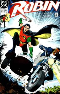 Cover of Robin (1991) #3 - showing Robin and Clyde on the motorcycle