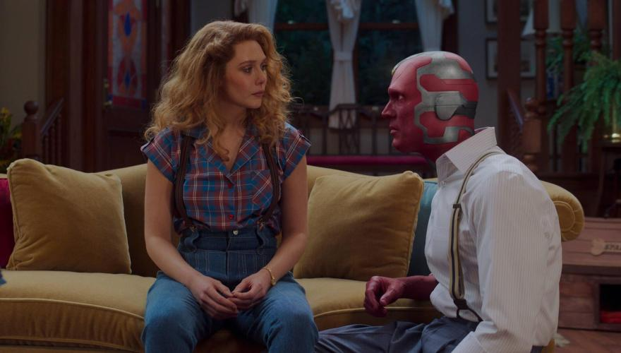 From Left, Wanda Maximoff and The Vision from WandaVision