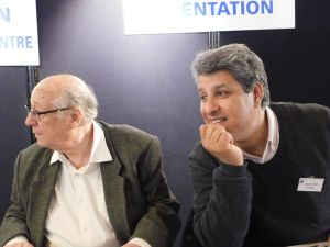 Parienty et Abdelillah Mniai, à la table d'accueil de Coup de soleil