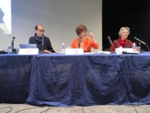 M. KABBAL, N. AGSOUS et F. FATES à l'hommage à Fatima Mernissi