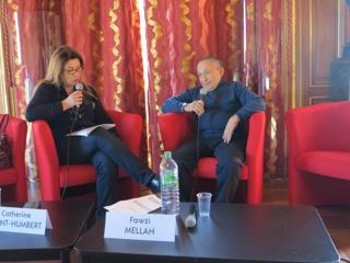 Catherine Dupont-Humbert, organisatrice des entretiens, avec Fawsi Mellah