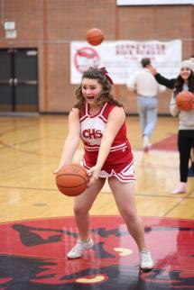 Cheerleader Half-Court Shot