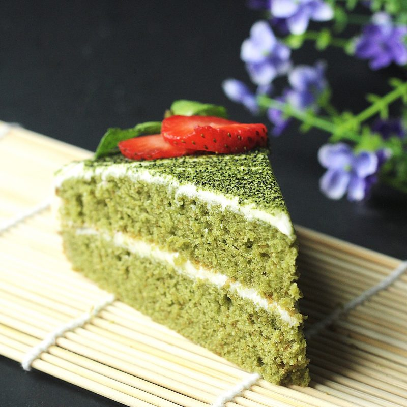 Green Tea Matcha Cake With White Chocolate Frosting Recipe Couple Eats Food