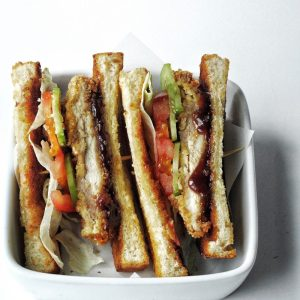 Baked Crispy Chicken Sandwich with Teriyaki Sauce