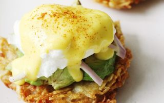 Hashbrown Avocado Eggs Benedict Recipe