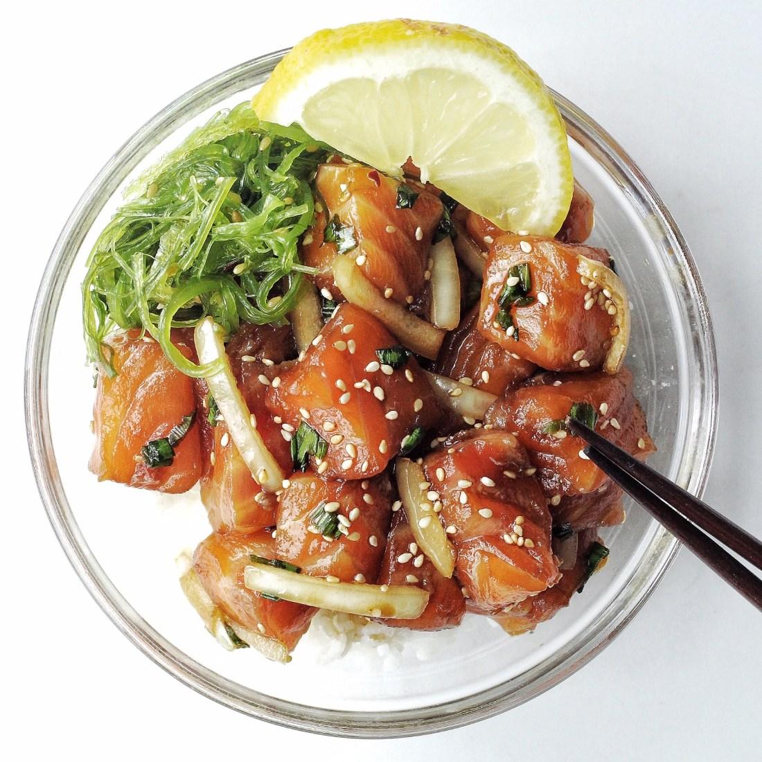 Salmon Shoyu Poke Bowl Recipe