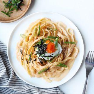 Japanese Creamy Masago Pasta Recipe