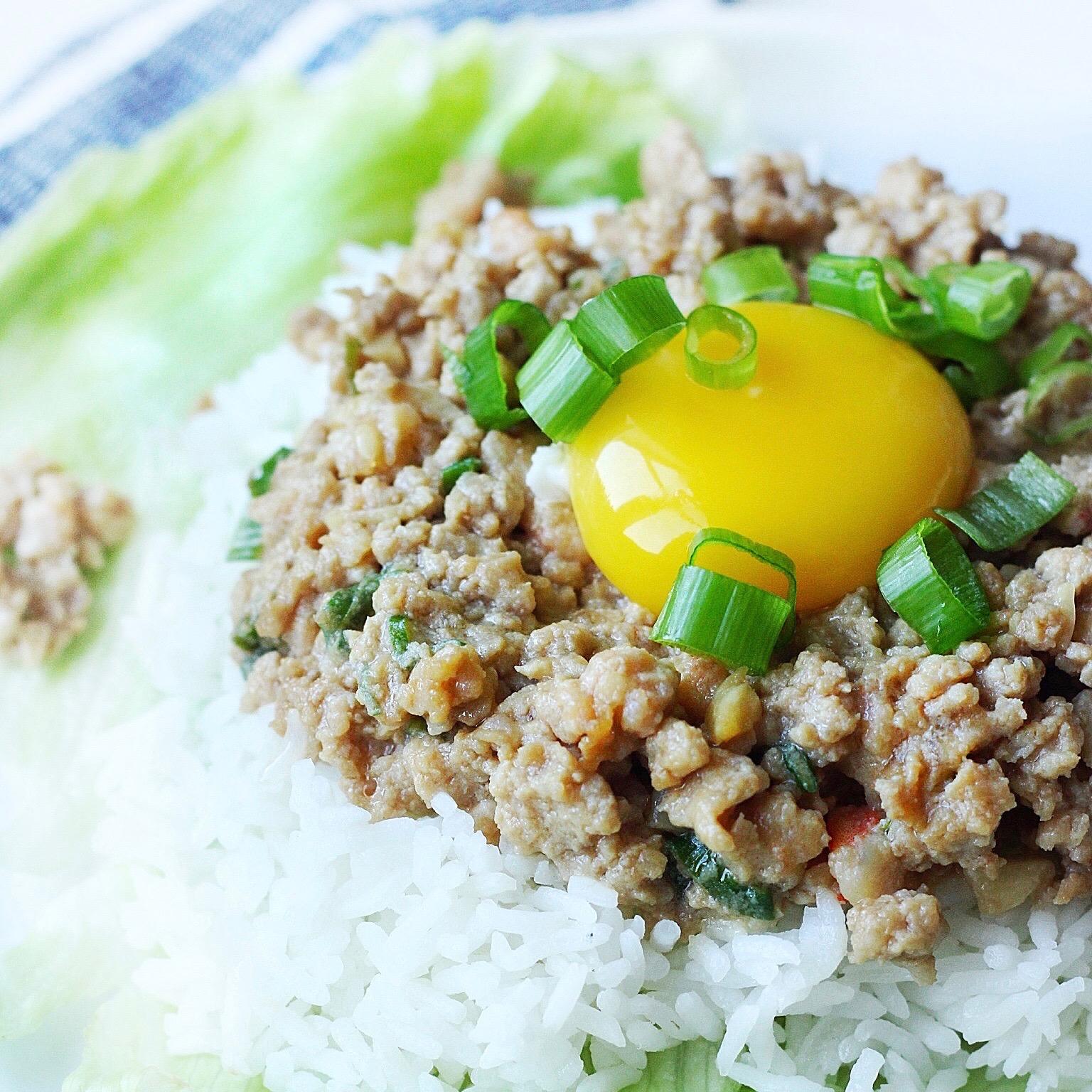 20-Minute Asian Pork and Shrimp Rice Plate