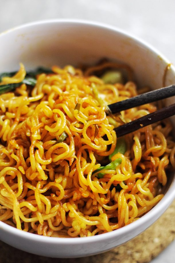 Instant Ramen Upgrade Spicy Fried Noodles