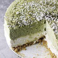 No-Bake Matcha (Green Tea) Cheesecake