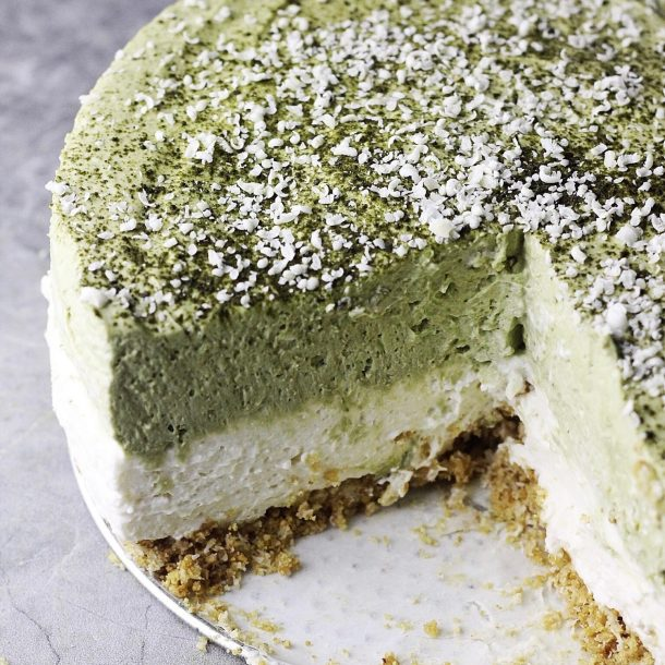 No-Bake Matcha Cheesecake