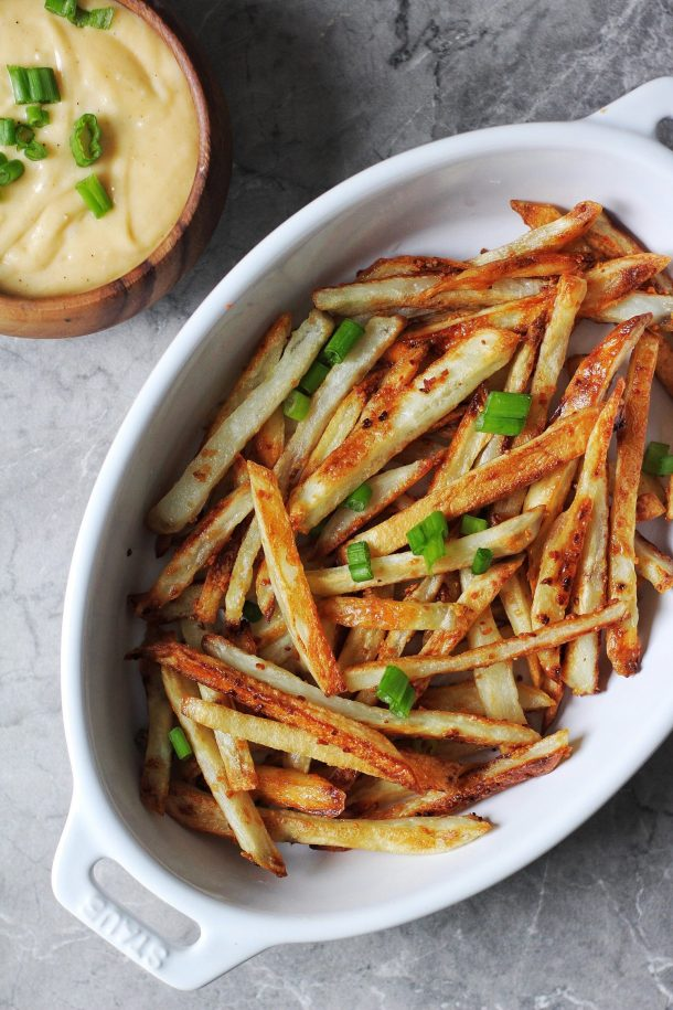 Crispy Baked Garlic Fries Recipe