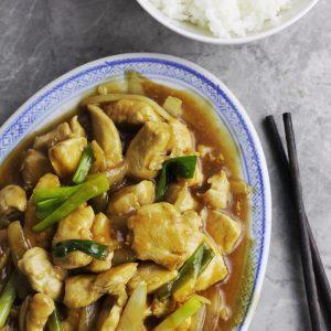 Easy Saucy Chicken & Onions Stir-Fry Recipe