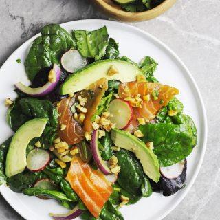 Smoked Salmon Salad with Cilantro Lime Vinaigrette