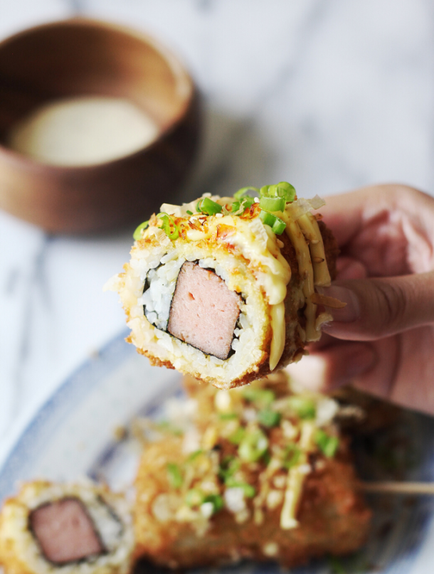 Fried Spam Musubi Rice Dog Recipe